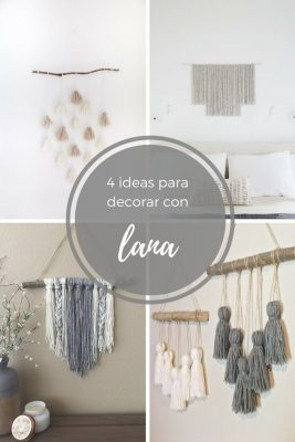 ideas decorar con lana