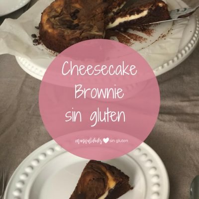 cheesecake brownie sin gluten