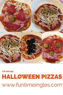 pizza Halloween sin gluten