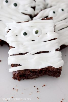 momia brownie halloween sin gluten