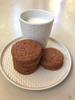Ricas galletas de chocolate sin gluten