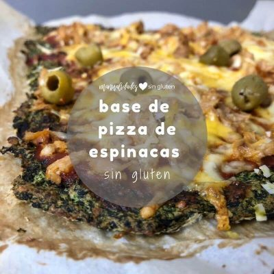 base pizza espinacas sin gluten